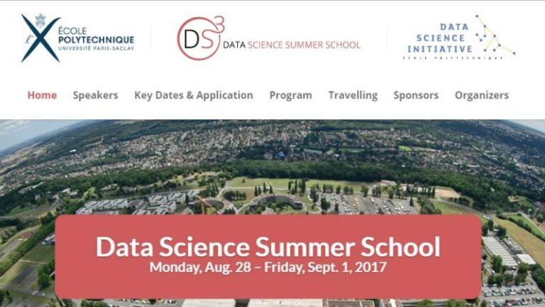 La 1ère Data Science Summer School organisée par l'École Polytechnique se tiendra du 28 août au 1er septembre prochains