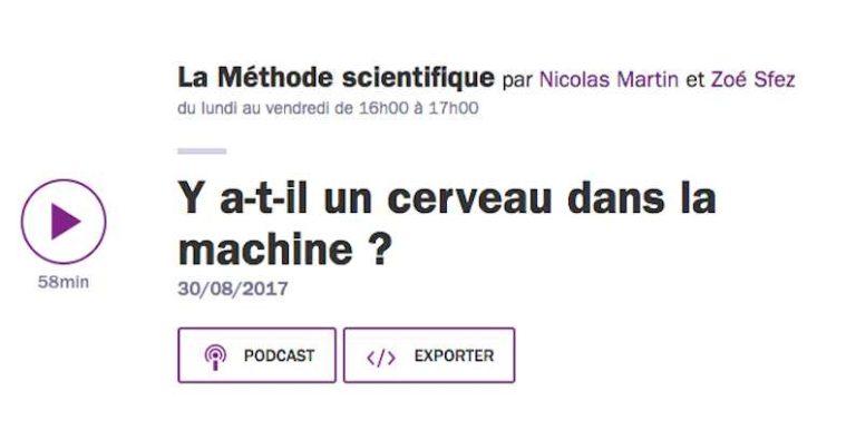 """La Méthode scientifique invite Yann LeCun pour son émission """"Y a-t-il un cerveau dans la machine ?"""""""