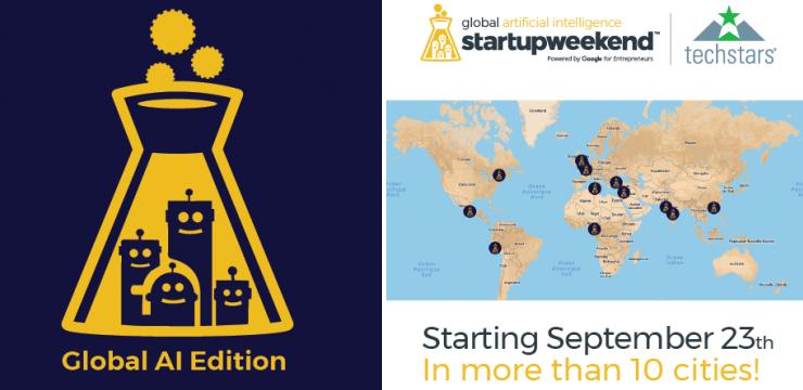 Le Global Startup Weekend Artificial Intelligence se tiendra fin septembre à Paris