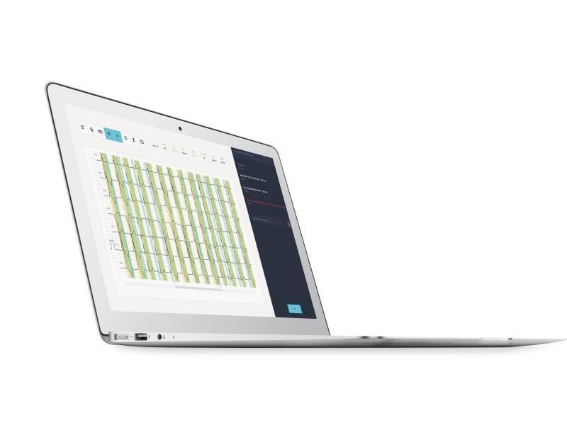 Interface on laptop