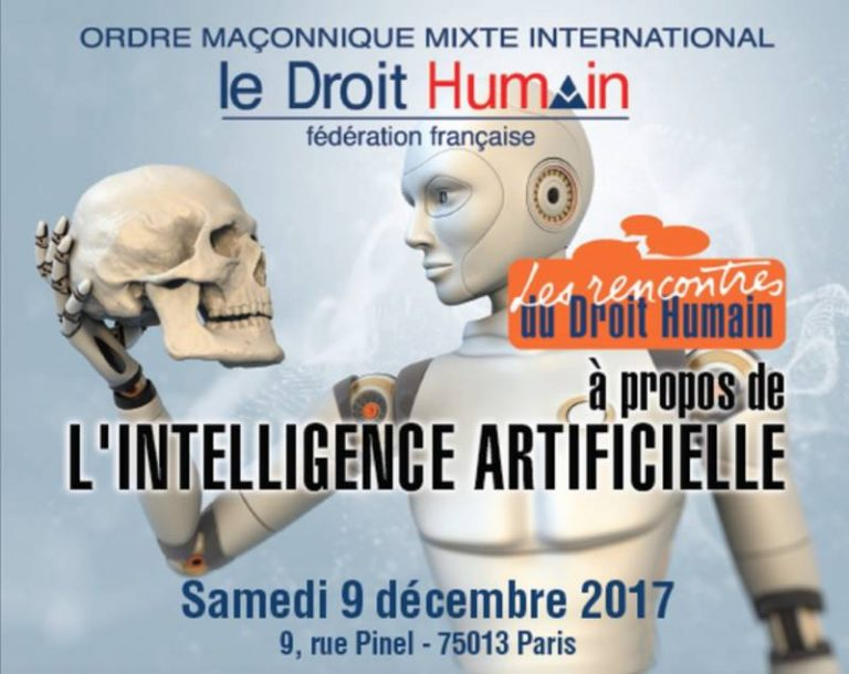 L'intelligence artificielle sera au coeur des Rencontres du Droit Humain le 9 décembre à Paris