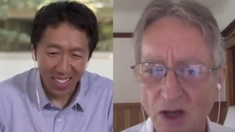 Deep Learning: Andrew Ng interviewe Geoffrey Hinton dans le cadre de deeplearning.AI