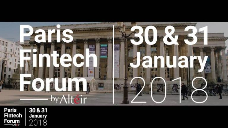 Le Paris Fintech Forum 2018 se tiendra les 30 & 31 janvier 2018