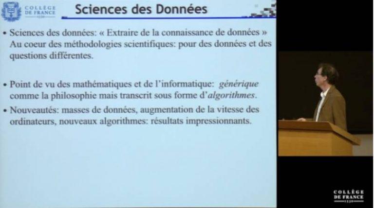 Leçon inaugurale de Stéphane Mallat, titulaire de la chaire Sciences des données au Collège de France