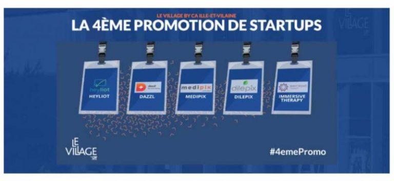 L'accélérateur de startups Village by CA Ille-et-Vilaine dévoile le nom des 5 start-ups retenues pour sa 4e promotion