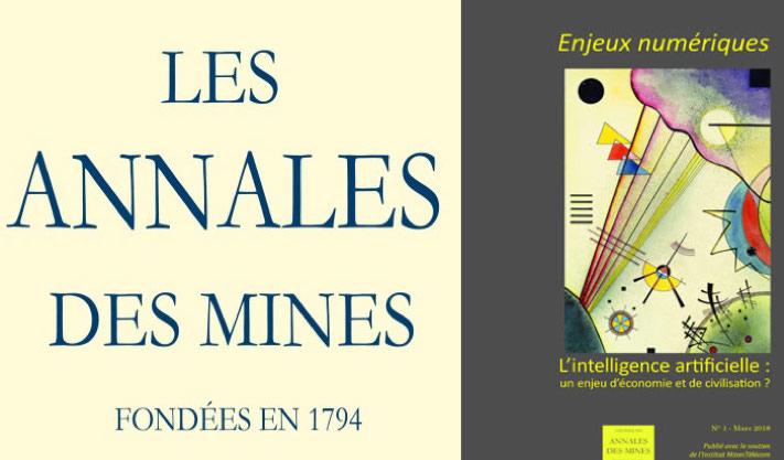 """Les Annales des Mines organisent la table ronde """"L'intelligence artificielle, un enjeu d'économie et de civilisation?"""" le 14 mars 2018"""