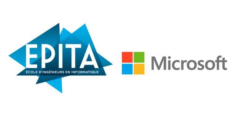 Partenariat Entreprise Formation Recherche entre l'EPITA et Microsoft pour développer l'IA en France