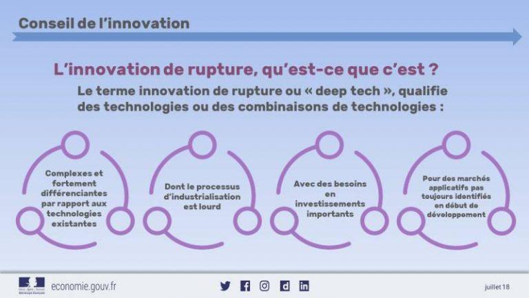 Conseil de l'innovation : une feuille de route axée deep tech, rupture et intelligence artificielle