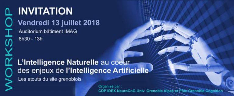 """Workshop """"L'Intelligence Naturelle au cœur des enjeux de l'Intelligence Artificielle"""" – le 13 juillet à Grenoble"""