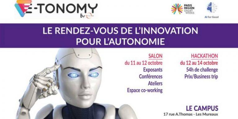 Salon E-TONOMY by INVIE, le rendez-vous de l'innovation technologique et sociale au service de l'autonomie du 11 au 14 octobre