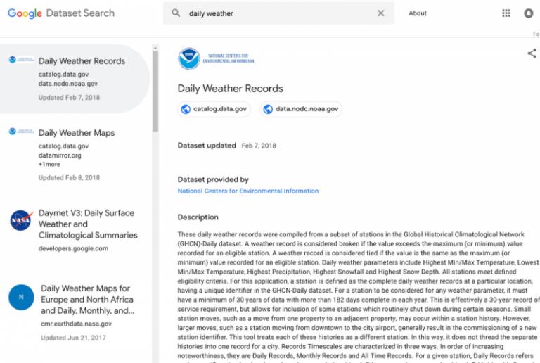 Google lance un moteur de recherche de jeux de données destiné aux datascientists