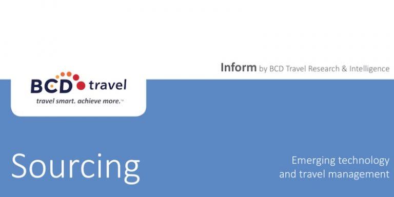 BCD Travel publie un premier rapport sur les effets des nouvelles technologies sur le sourcing dans le domaine des voyages