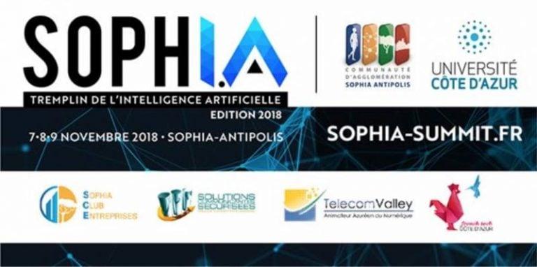 La 1ère édition du Soph.I.A Summit, le sommet Intelligence Artificielle de Sophia Antipolis, se tiendra les 7, 8 et 9 novembre