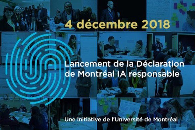 Lancement de la Déclaration de Montréal IA responsable