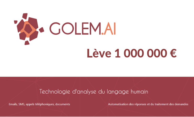 Golem.ai lève 1 million d'euros