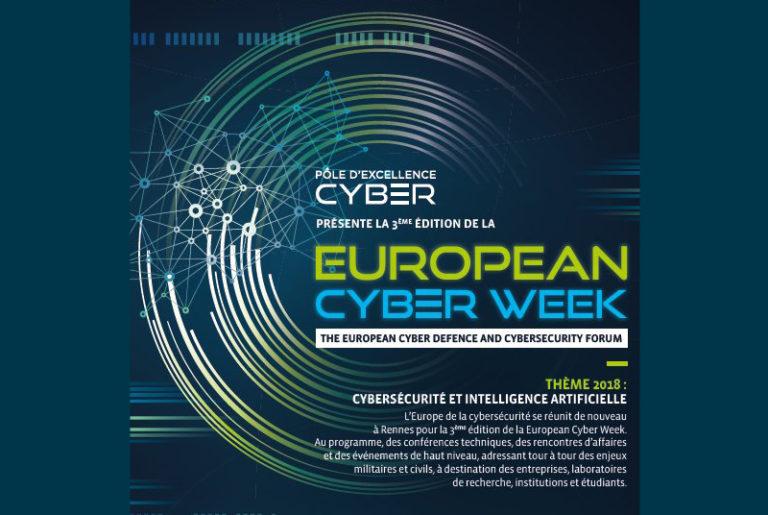 Une 3e édition de la European Cyber Week réussie à Rennes autour du thème « Intelligence artificielle et cybersécurité »