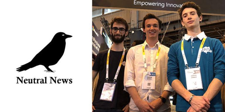 IA et Fake news : découvrez Neutral News, le projet de trois étudiants de l'EPITA