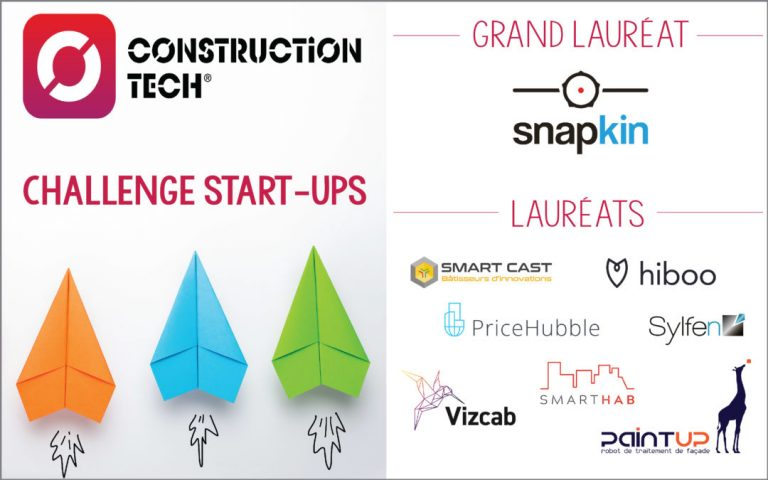 Focus sur les 8 lauréats du Challenge Start-ups Construction Tech®