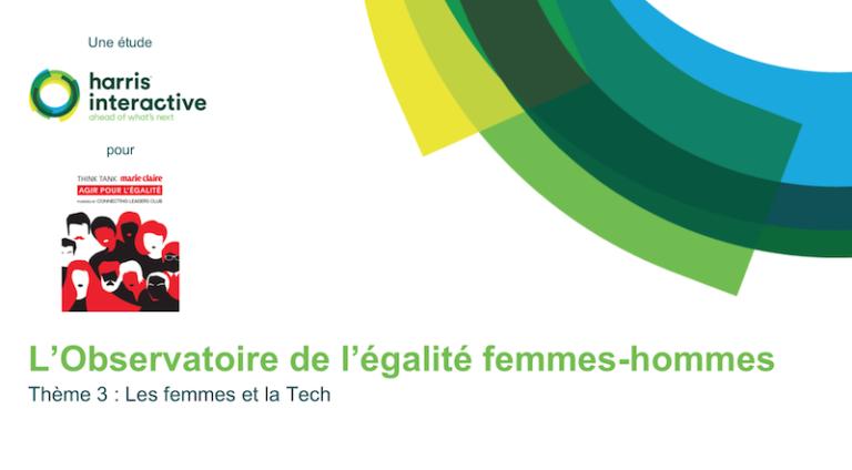L'Observatoire de l'égalité femmes-hommes dévoile son étude sur les femmes et la Tech