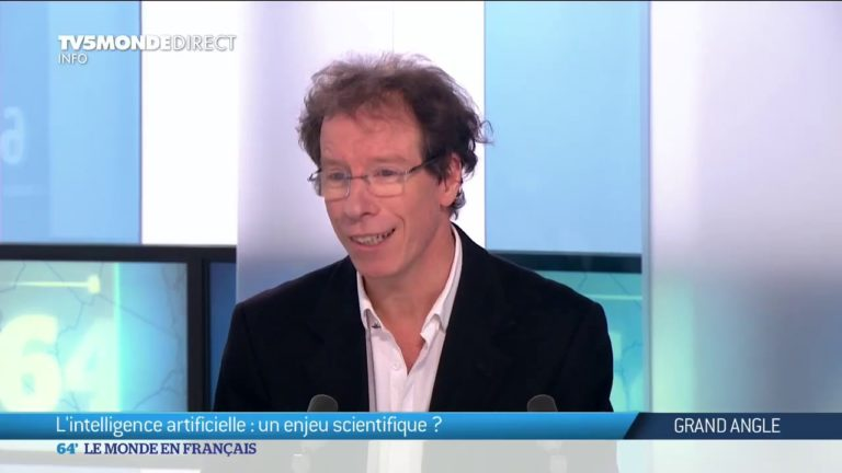 L'intelligence artificielle : un enjeu scientifique ? – Stéphane Mallat, invité sur TV5MONDE