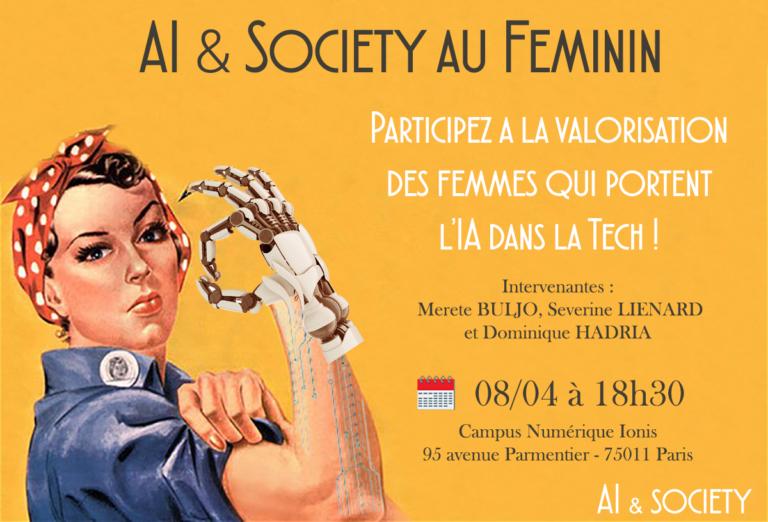 IA : Osez, Mesdames ! AI&Society vous donne rendez-vous le 8 avril