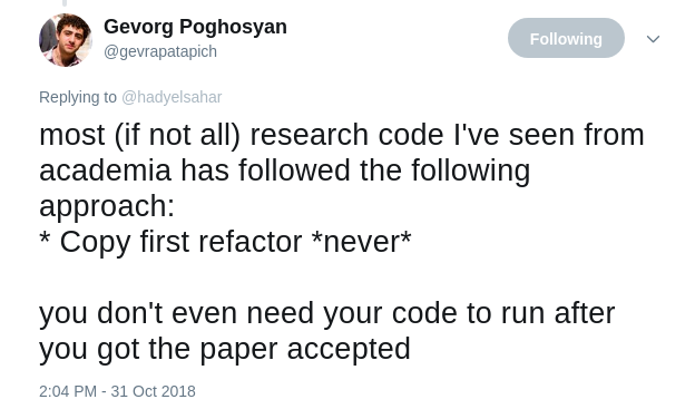 Copy first refacto never