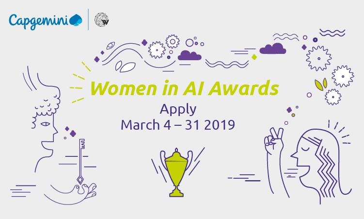 Women in AI Awards – Postulez avant le 31 mars 2019