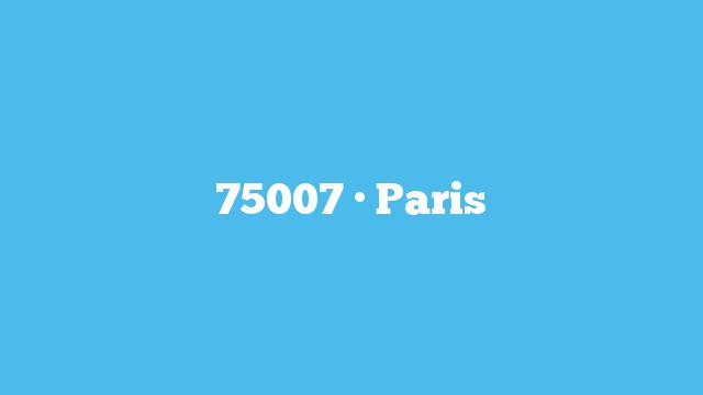 75007 · Paris
