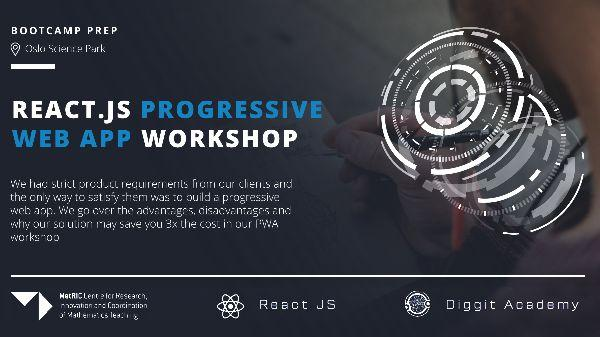 Interactive Progressive web app + React Workshop