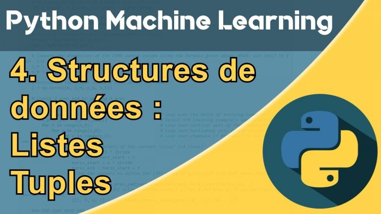 Formation Python – Machine Learning 4/30 : listes et tuples