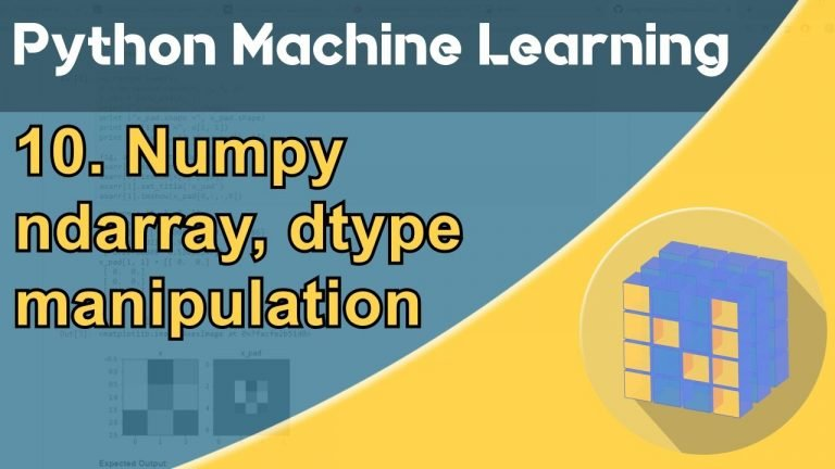 Formation Python – Machine Learning 10/30 : NumPy
