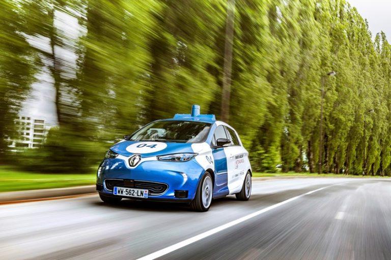 Paris-Saclay Autonomous Lab : Le Groupe Renault commence l'expérimentation publique de ses ZOE Cab autonomes