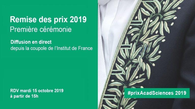 Lauréats 2019 des prix thématiques de l'Académie des sciences