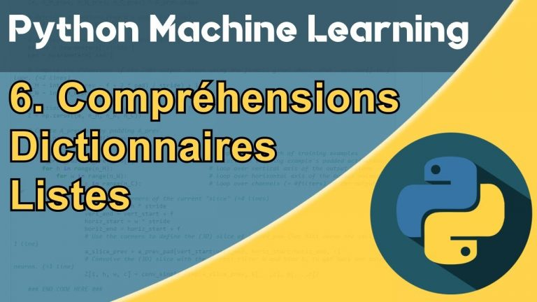 Formation Python – Machine Learning 6/30 : Listes comprehension