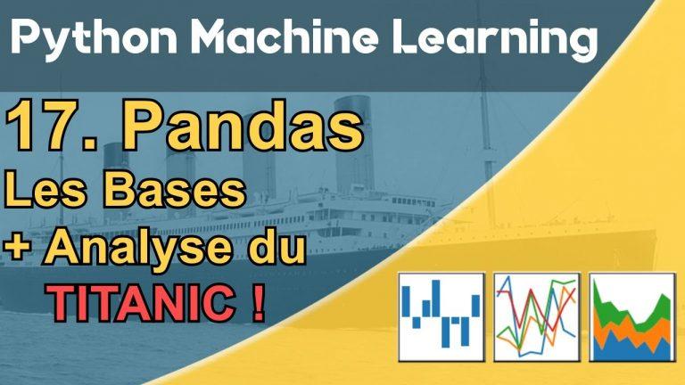 Formation Python – Machine Learning 17/30 :  Pandas – Le cas des passagers du Titanic