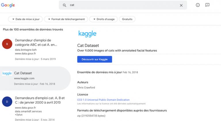 Google a sorti en version officielle Dataset Search, un moteur de recherche de jeu de données