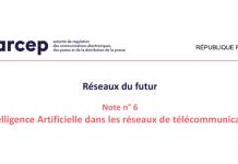 Arcep Intelligence artificielle dans les réseaux de télécommunications