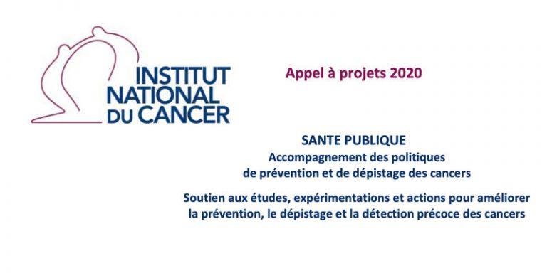 L'Institut national du cancer publie son appel à projets 2020 DEPIPREV
