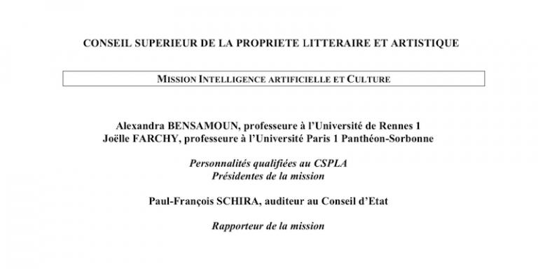 Intelligence artificielle et Culture : Le CSPLA publie son rapport de mission sur ses enjeux juridiques et économiques