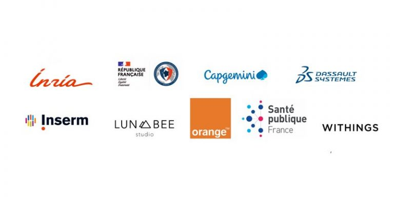 Inria, ANSSI, Capgemini, Dassault Systèmes, Inserm, Lunabee Studio, Orange, Santé Publique France et Withings forment l'équipe-projet StopCovid