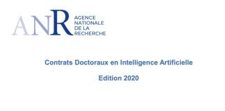ANR Contrats doctoraux intelligence artificielle 2020