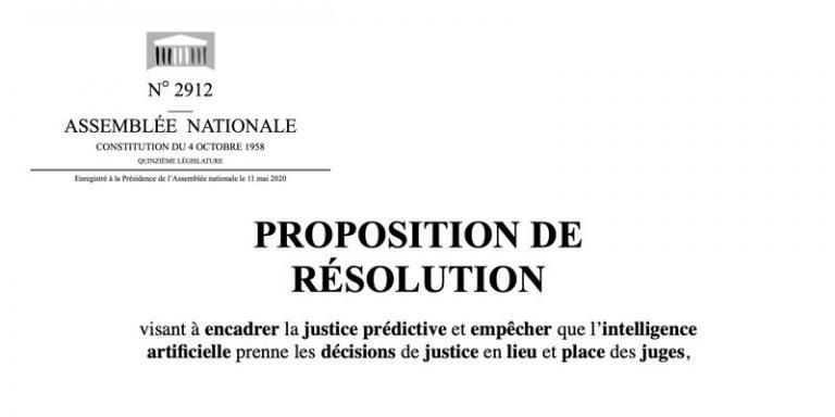 Datajust : Une proposition de résolution visant à encadrer la justice prédictive et empêcher que l'intelligence artificielle prenne les décisions a été déposée