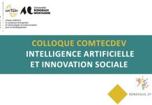 COLLOQUE COMTECDEV INTELLIGENCE ARTIFICIELLE ET INNOVATION SOCIALE