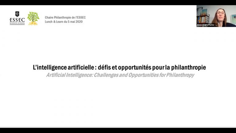 Replay : L'intelligence artificielle – défis et opportunités pour la philanthropie | ESSEC Chair