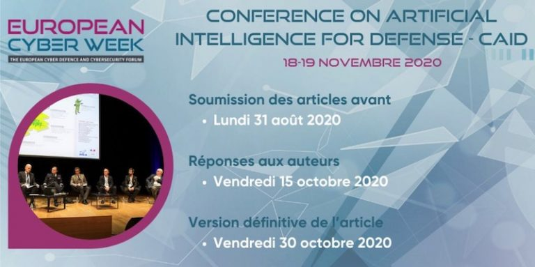 Appel à contributions pour la CAID (Conference on Artificial Intelligence for Defense) qui se tiendra à Rennes