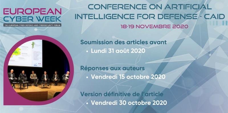 Appel à contributions pour la CAID (Conference on Artificial Intelligence for Defense) qui se tiendra à Rennes
