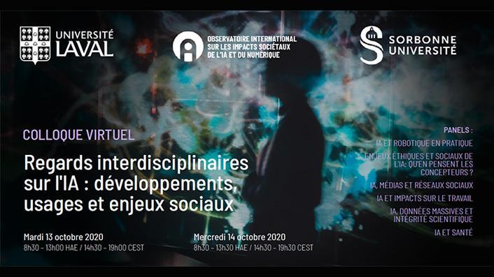 Le colloque Regards interdisciplinaires sur l'IA : développements, usages et enjeux sociaux se tient ces 13-14 octobre