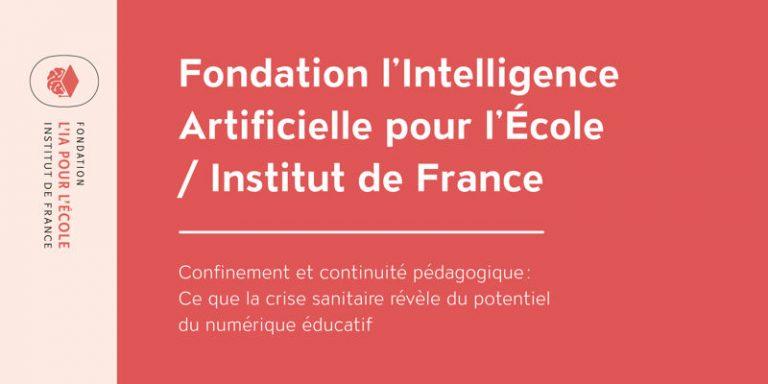 La Fondation l'IA pour l'Ecole publie un livre blanc sur le confinement et continuité pédagogique