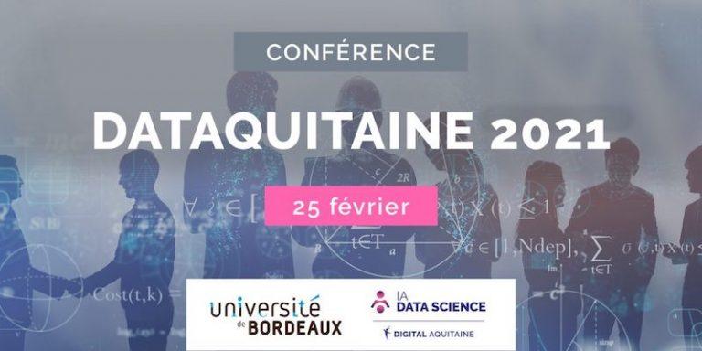 Suivez Dataquitaine, consacrée à la Data Science, l'IA et la Recherche Opérationnelle, en livestream