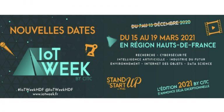 Nouvelles dates pour l'IoT Week qui revient du 15 au 19 mars 2021